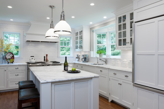 hampton bay kitchen cabinets. Kitchen at a Pleasantville Foursquare traditional kitchen  Traditional