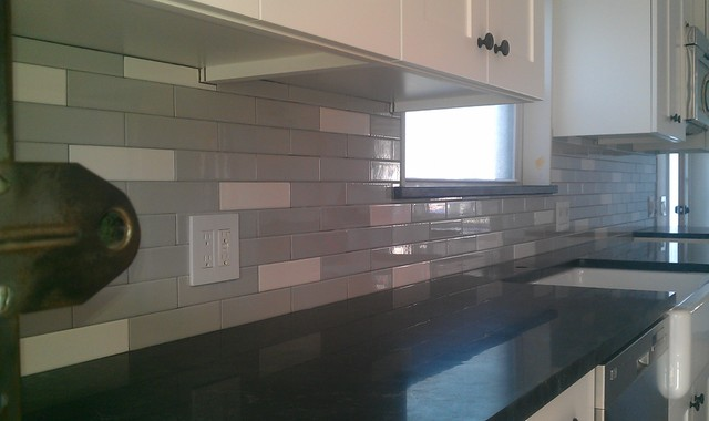 Kitchen Back Splash Ceramic 2 X 8 Subway Tile Contemporary