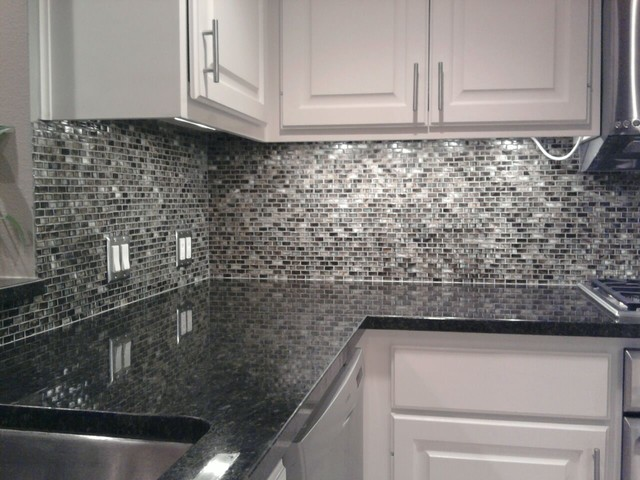 Kitchen Back Splash Glass Mosaic Tile Contemporary