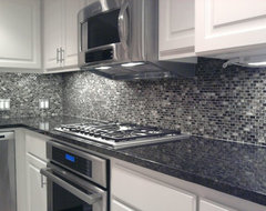 Kitchen Back Splash - Glass Mosaic Tile contemporary kitchen