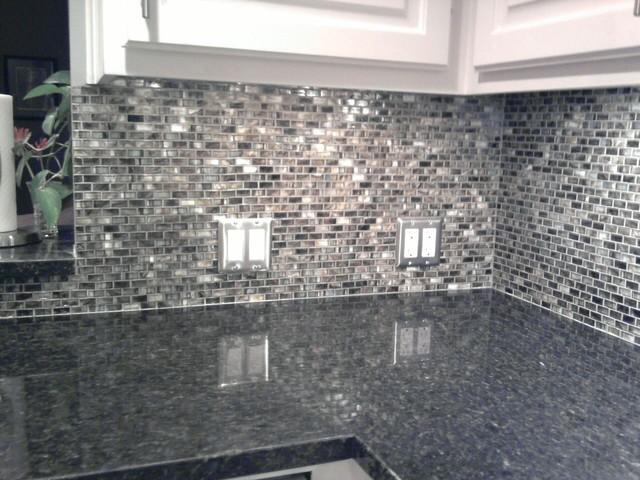 Kitchen Back Splash - Glass Mosaic Tile contemporary-kitchen - Kitchen Back Splash - Glass Mosaic Tile - Contemporary - Kitchen