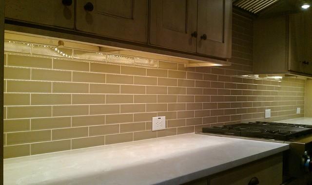 Kitchen Back Splash Subway 2 X 8 Olive Le Contemporary