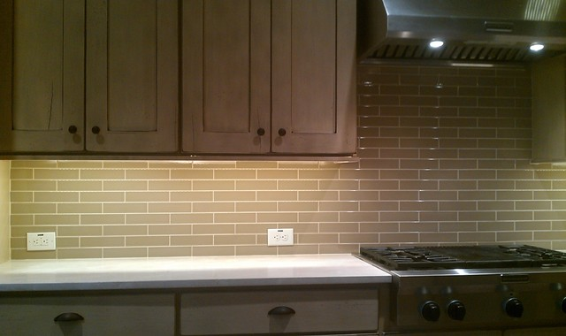 Kitchen Back Splash Subway 2 X 8 Olive Le Contemporary