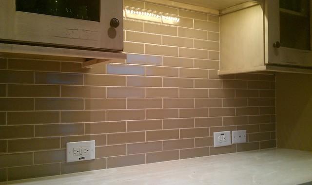 Kitchen Back Splash Subway 2 X 8 Olive Crackle Contemporary