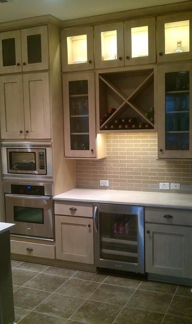 "Kitchen Back Splash - Subway 2"" x 8"" Olive Crackle contemporary-kitchen"