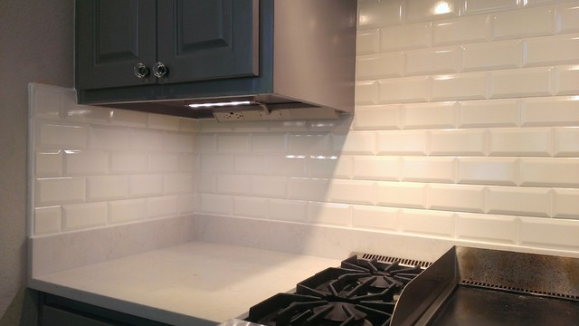 "beveled subway tile design | KITCHEN - Backsplash - Ann Sacks 3"" x 6"" Beveled Subway ..."