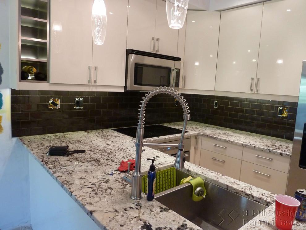 Kitchen Backsplash Burnaby Contemporary Kitchen Vancouver By 3d Tile Design Bertram Tasch