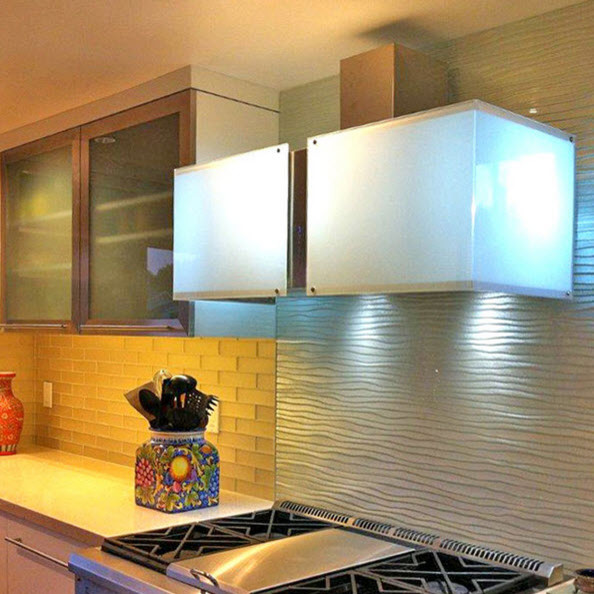 Modern Kitchen Backsplash 2015: By Cast Glass Images Inc