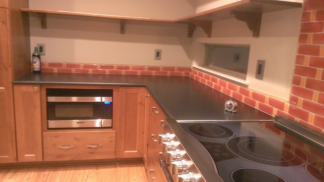 kitchen backsplash fire and clay recycled glass