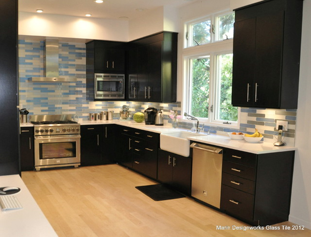 Kitchen Backsplash Contemporary Kitchen San Francisco By Marin Designworks Glass Tile
