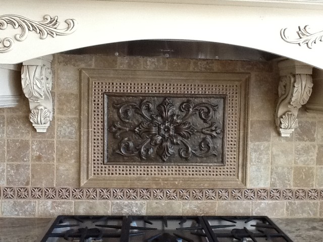 Medallion Backsplash Houzz - Kitchen medallion backsplash