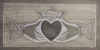 Kitchen Backsplash Tile Claddagh In Marble Custom Celtic Tile Modern Kitchen Los Angeles By Karmic Stone Houzz Uk