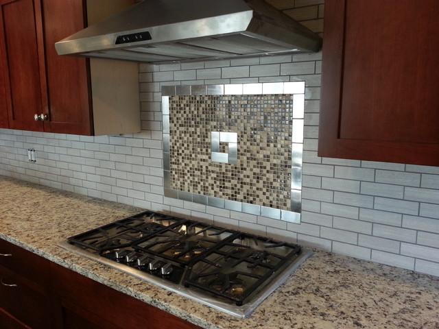 Kitchen backsplash tile installation job in New Jersey