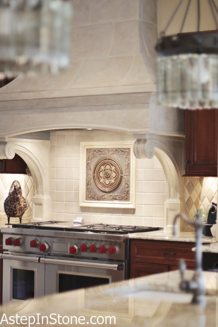 Kitchen backsplash with a medallion as the focal point for Kitchen medallion backsplash