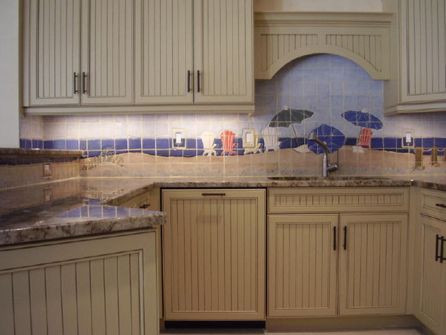 Kitchen Backsplashes. Custom Ceramic Tiles traditional kitchen