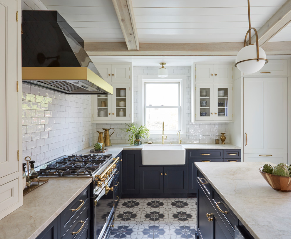 - Kitchen Backsplashes - Mediterranean - Kitchen - New York - By Ivy