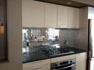 Mirror Kitchen Backsplash | Kitchen Backsplashes Contemporary Kitchen New York By