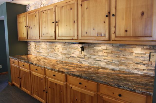 Rustic tile backsplash