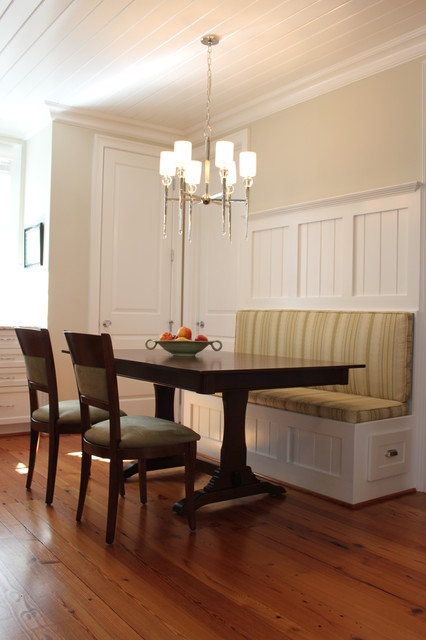 kitchen banquette traditional kitchen raleigh by abode interiors. Black Bedroom Furniture Sets. Home Design Ideas