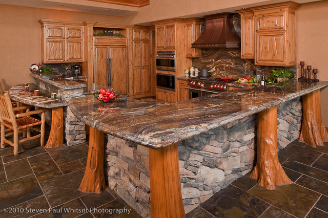 Custom Rustic Kitchens Mesmerizing Kitchen Bar  Rustic  Kitchen  Other Custom Design Construction Inspiration