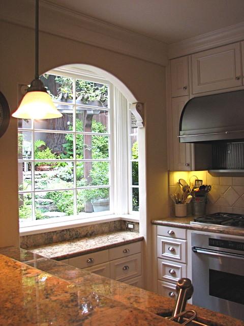 Kitchen bay window - Mediterranean - Kitchen - san francisco - by Lisa ...