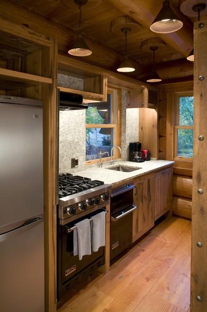 Kitchen - Rustic - Kitchen - Minneapolis - by Bill Michels Architect