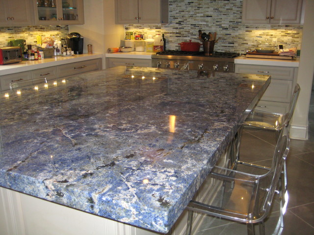 kitchen: blue bahia granite island - traditional - kitchen - new