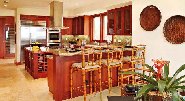 Kitchen Breakfast Bar Tropical Kitchen