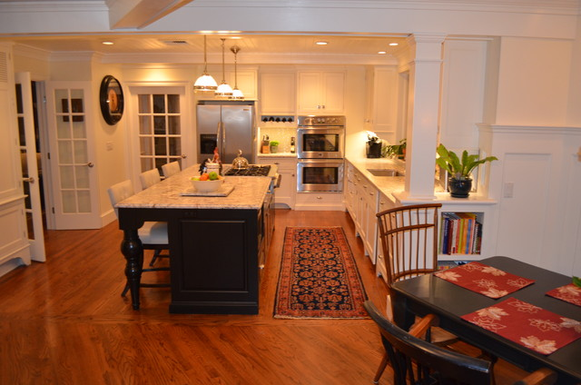 breakfast nook island kitchenbreakfast nook traditional kitchen new york by
