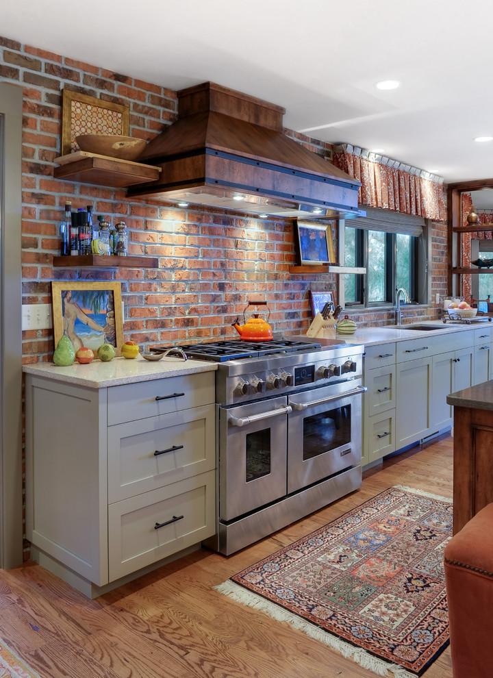 Kitchen Brick Back Splash Accent Wall Modern Kitchen Charleston By Glen Gery Brick