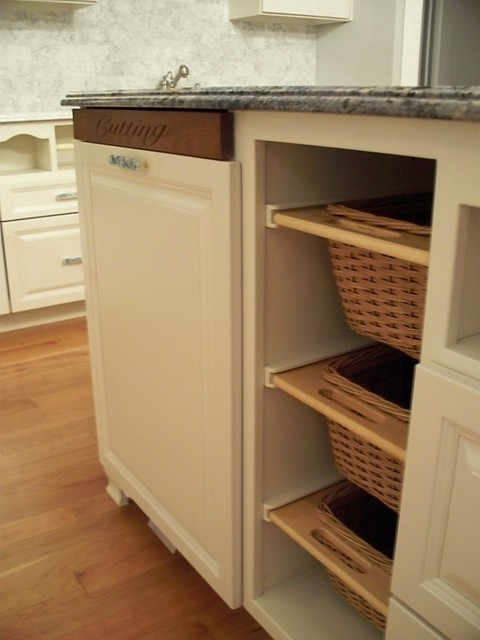 Kitchen Built In Cutting Board And Baskets Traditional Kitchen Philadelphia