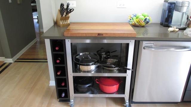 Kitchen Built-in Portable Butcher Block contemporary-kitchen