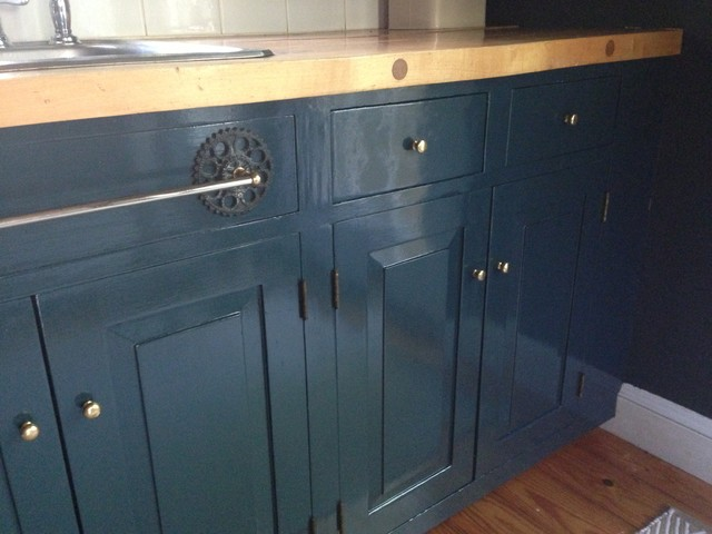 Kitchen Cabinet Make Over With Farrow Ball Hague Blue Traditional