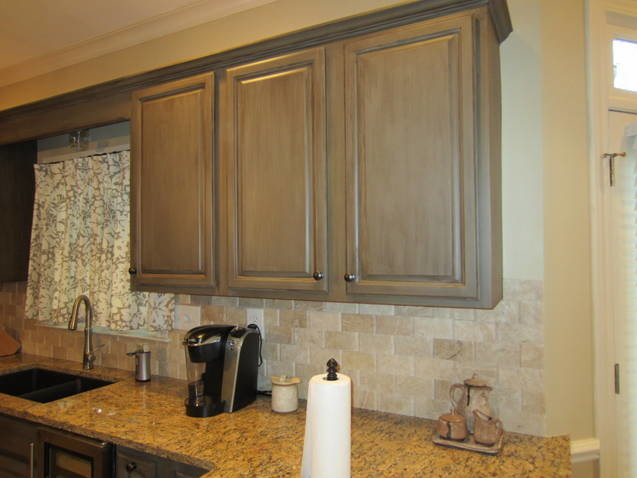 kitchen cabinets redone 1