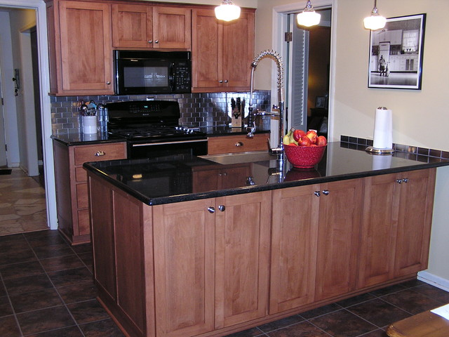 Kitchen cabinet refacing with new countertop traditional kitchen kansas city by kitchen for Kitchen cabinets kansas city