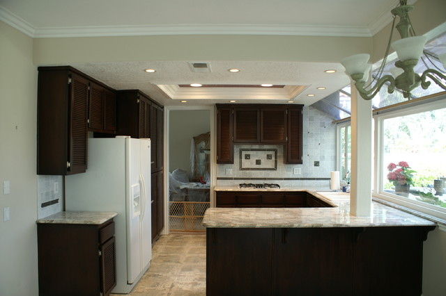 Kitchen cabinet refinishing contemporary kitchen orange county by im painting inc - Modern kitchen cabinets orange county ...