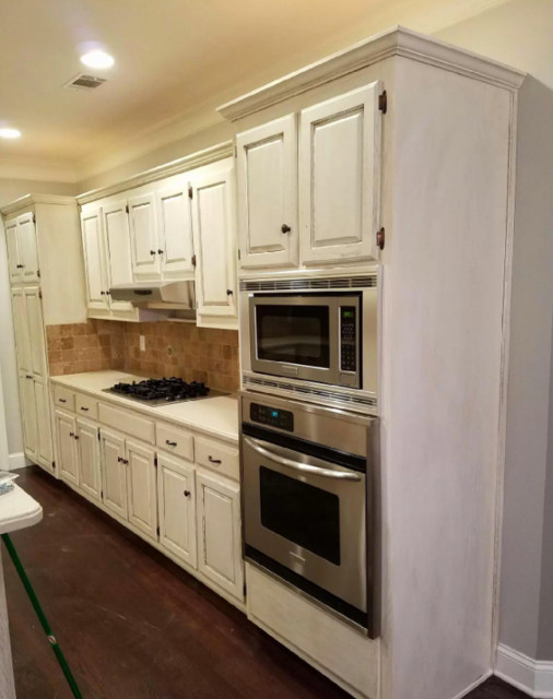 Kitchen Cabinet Refinishing - Transitional - Kitchen - Atlanta - by North Georgia Custom ...