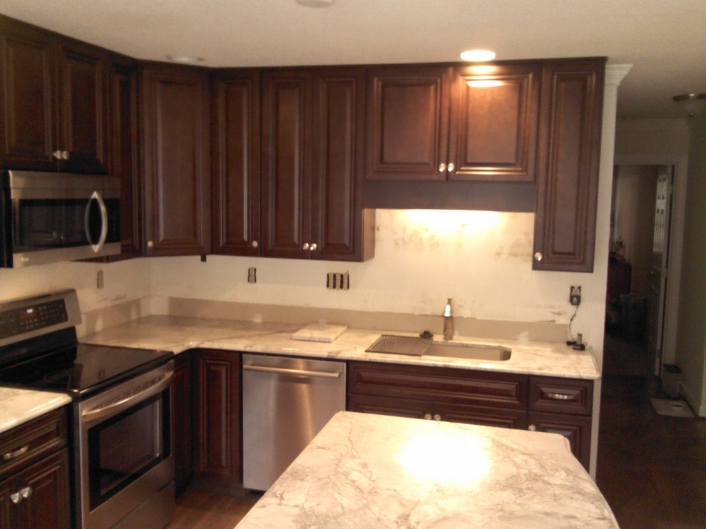Kitchen Cabinet Replacement from Oak to Walnut stained ...
