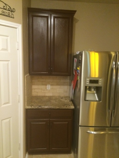 kitchen cabinet restaining and installation traditional kitchen
