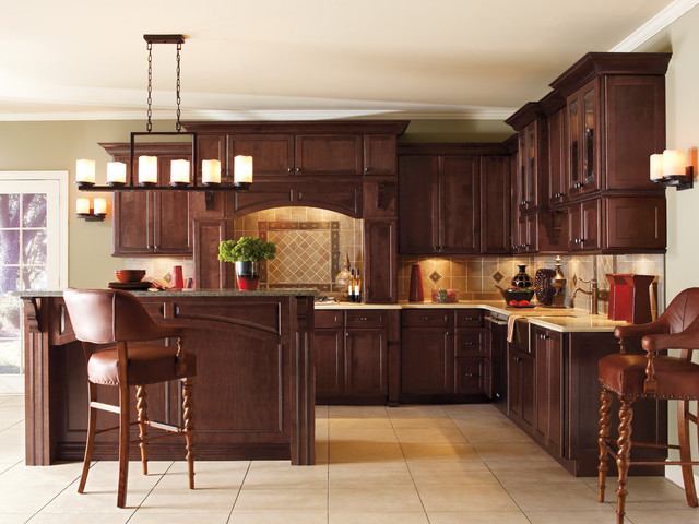 Incroyable Inspiration For A Timeless Kitchen Remodel In Other With Raised Panel  Cabinets, Dark Wood