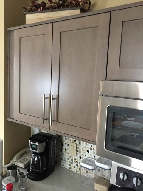 Kitchen Cabinets Refaced With Pendleton Sp275 In Maple Rockport Gray Wash Modern Kitchen
