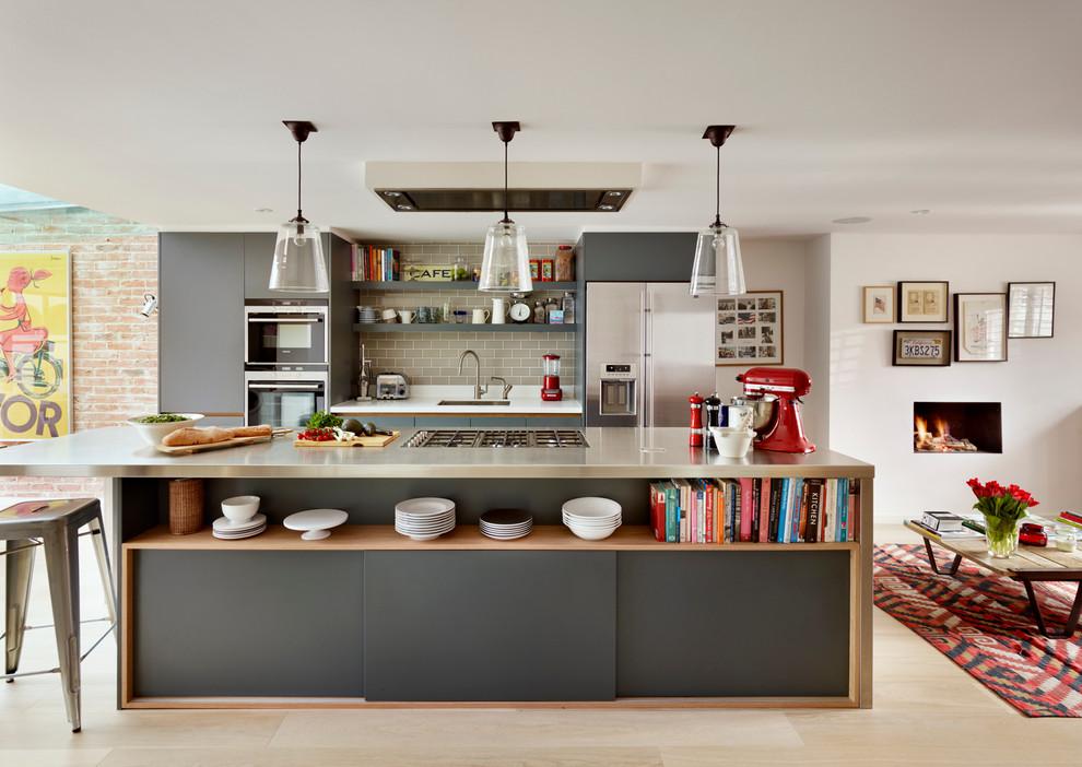 厨房现代风格效果图大全2017图片_土拨鼠简约纯净厨房现代风格装修设计效果图欣赏