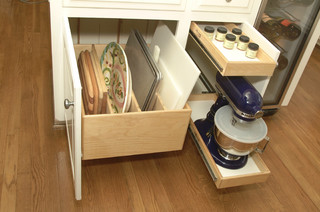 Kitchen Cabinets upgrade to Glide-Outs contemporary-kitchen