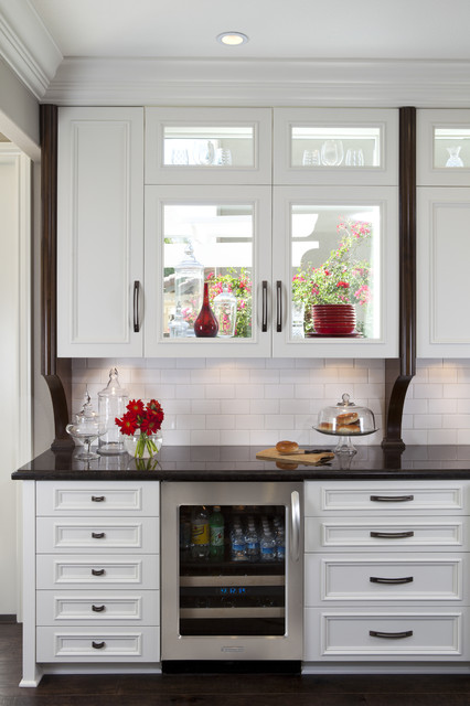 Kitchen Cabinets With Window Traditional Kitchen San
