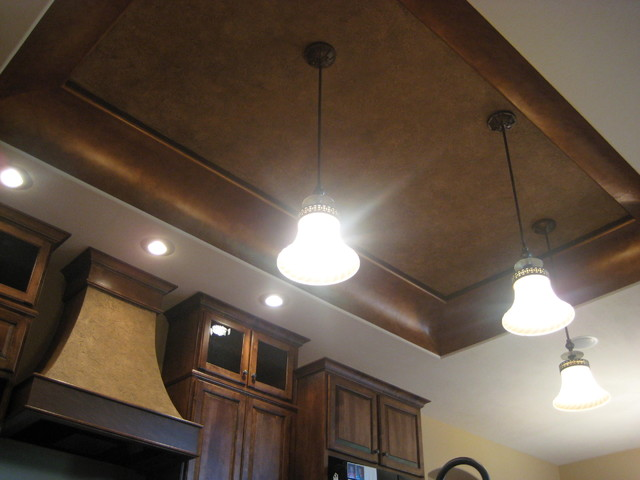 Kitchen Ceiling - Italian Finishes - Bella Faux Finishes traditional-kitchen