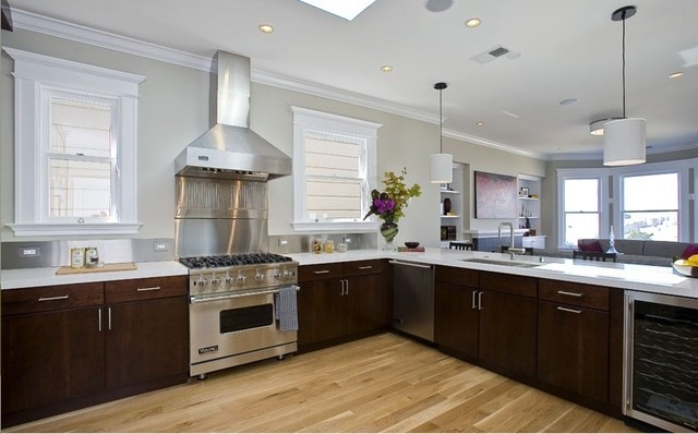 Kitchen - Cherry Slab doors - Contemporary - Kitchen - san francisco - by Cabinets and Beyond ...