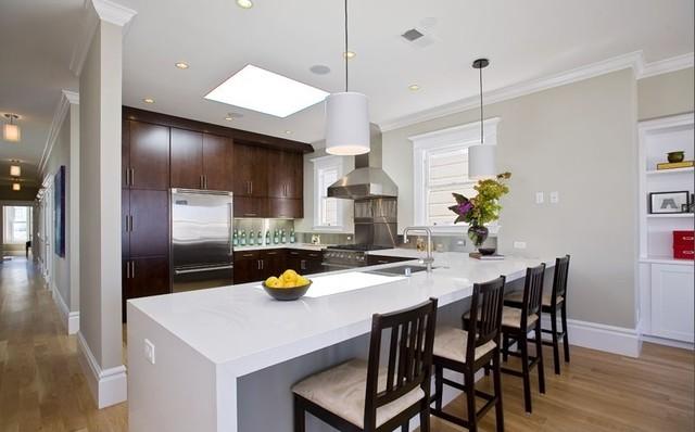 Kitchen - Cherry Slab doors contemporary-kitchen