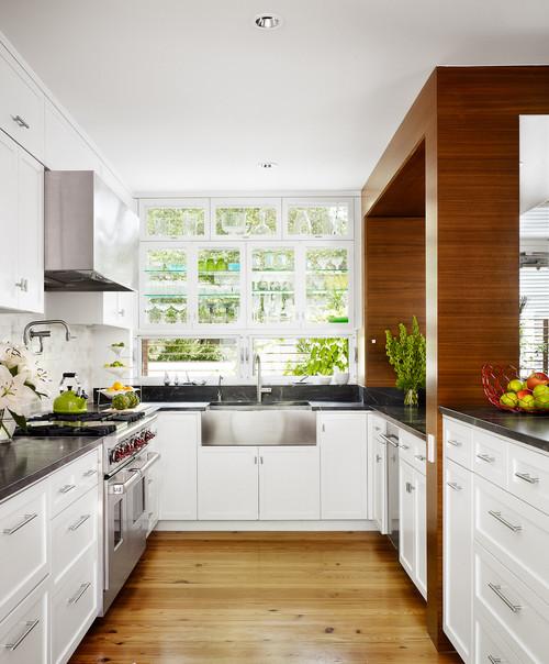 Donnau0027s Blog: Kitchen Design Glass Cabinets In Front Of Windows | Chioco  Design