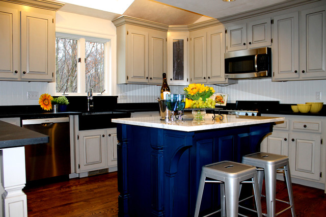 Kitchen Color Transformation in Westborough, MA traditional-kitchen