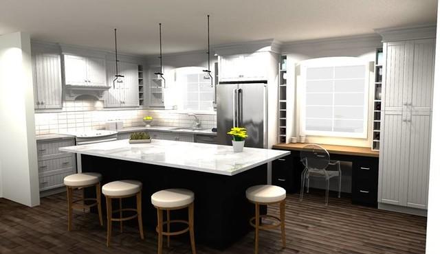Kitchen Concepts Shaker v groove Transitional Kitchen